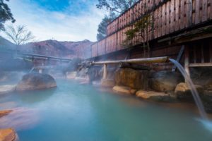 It's good seasons for take an Onsen In fall and winter. it shows you how to take an Onsen .